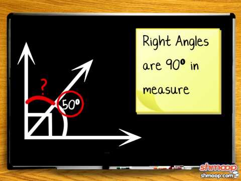 Complementary & Supplementary Angles by Shmoop