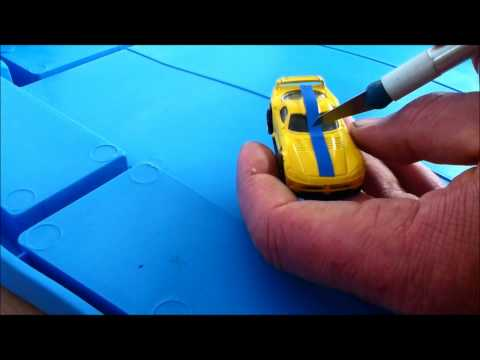 How to customise hot wheels with vinyl tape