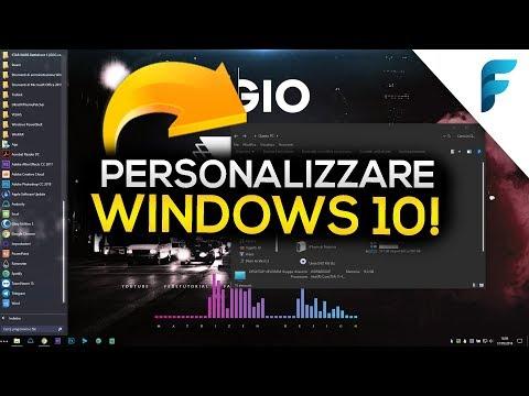 Personalizzare Windows 10 (Dark Mode Theme 2018) - Ecco come ho fatto! | Tutorial [ITA]