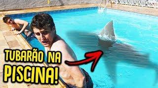 MINHA PISCINA VIROU UM AQUÁRIO DE TUBARÃO !! [ REZENDE EVIL ]