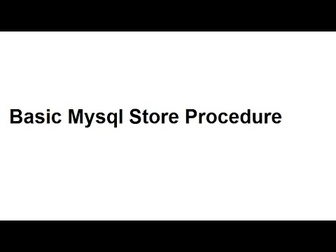 How to create mysql store procedure and call from php page