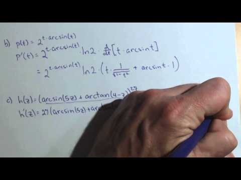 Derivative of Arctan and ln involving Product, Quotient, and Chain Rule A2 18abc