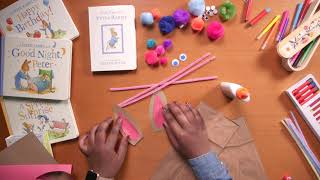 Make a Bunny Puppet| Crafts for Kids