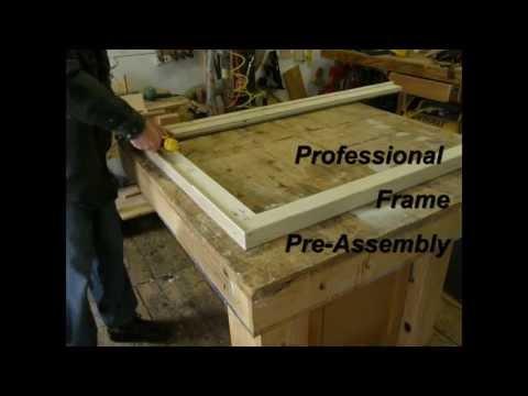 Canvas Stretcher Frame Assembly Process