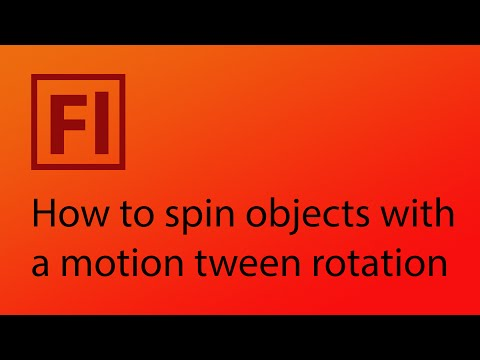 How to spin objects using motion tween rotation in Adobe Flash CS6