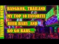 MY TOP 10 BARS, BANGKOK, THAILAND