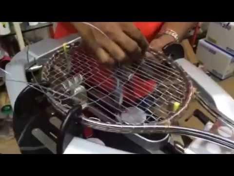 Stringing Wilson T2000 Tennis racket by Sportslineindia Owner Mr. Baskar