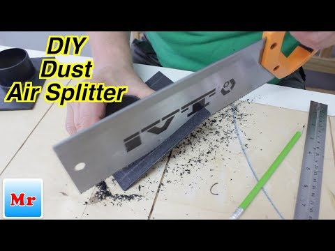 How to Make a Dust Air Splitter for Woodworking from Blast Gates   DIY