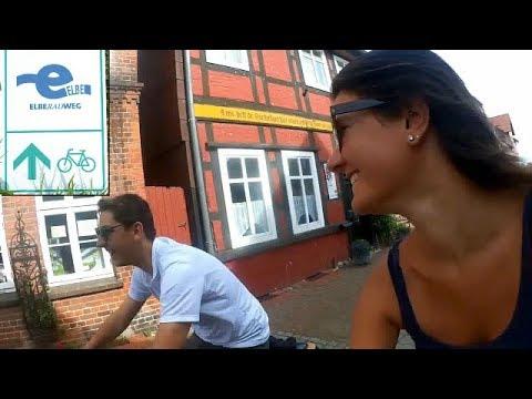 ElbeRadWeg Couchsurfing & Bike🚴 Germany 600km (EN subtitles)