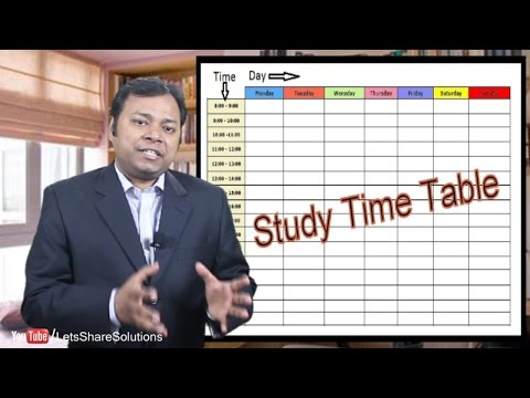 How to make and FOLLOW a Study TimeTable