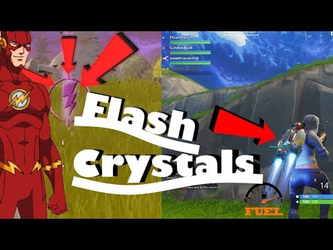 Fortnite JetPack Gameplay - Gas Station Refuel? +New Flash Crystals(120 MPH) BROKEN?
