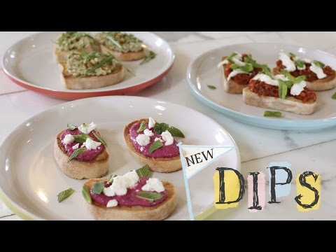 How to serve our new summer dips - perfect as bruschetta toppings