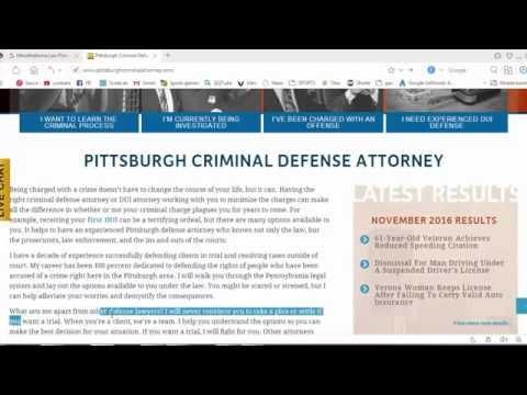 PITTSBURGH CRIMINAL DEFENSE ATTORNEY HD VIDEO