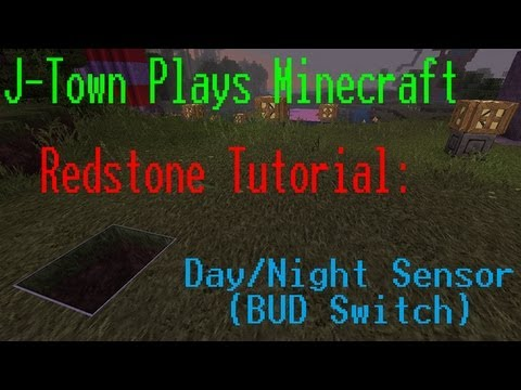 Minecraft 1.4.7    Redstone Tutorial: Day/Night Sensor (BUD Switch)