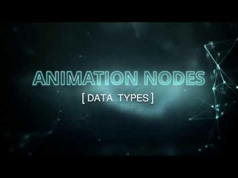 DATA TYPES | Blender Animation Nodes (Visual Programming for Artists)