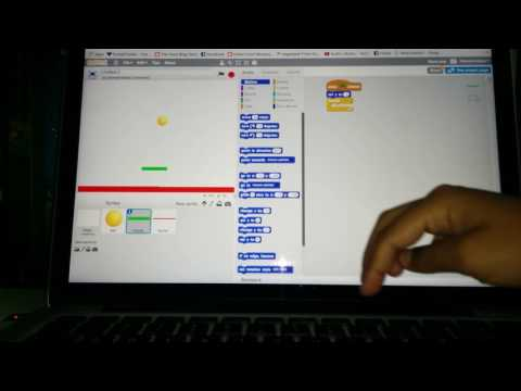Paddle ball game on scratch