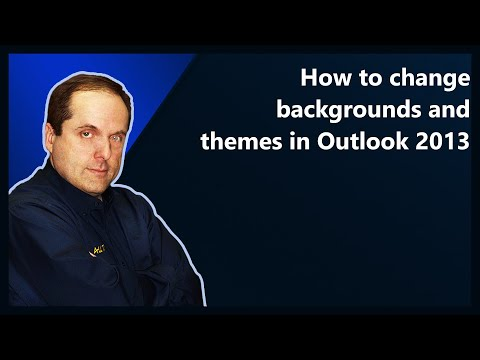 How to change backgrounds and themes in Outlook 2013