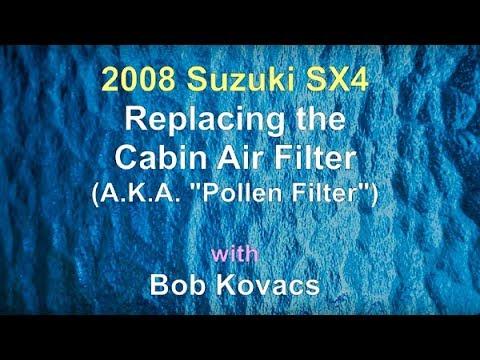 2008 Suzuki SX4 Cabin Air Filter Replacement