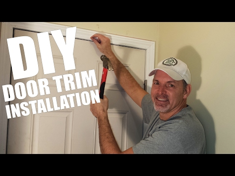 Easy Way to Install Door Trim