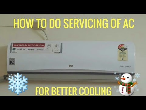 How To Do AC Servicing At Home||Cleaning|| For Better Cooling ⛄❄