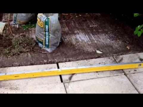 DIY Paving slabs for Garden shed
