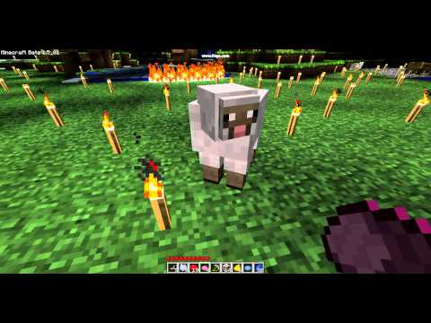 mine craft how to make a pink sheep + pink wool