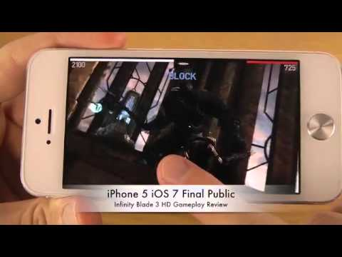 Infinity Blade 3 iPhone 5 iOS 7 Final Public HD Gameplay Review