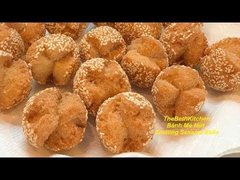 Crispy Smiling Sesame Balls _ Sesame Balls recipe