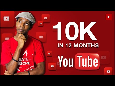 How to Get 10K YouTube Subscribers in 12 Months