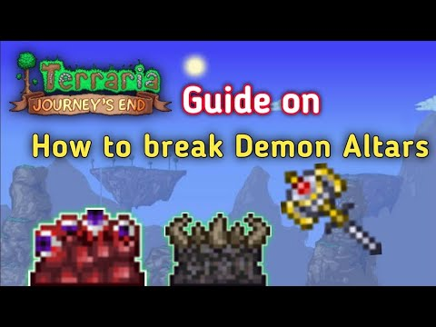 How to Destroy Demon Altar in Terraria | Hardmode ore | How to smash demon altar