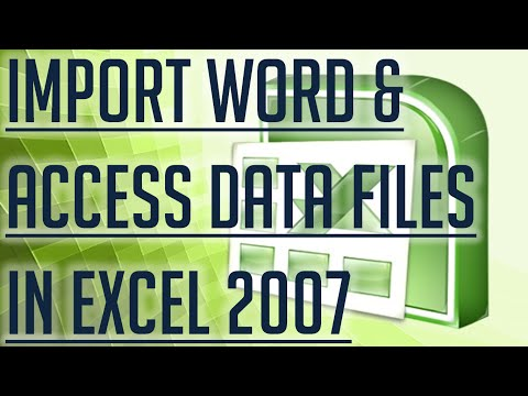 [Free Excel Tutorial] IMPORT WORD AND ACCESS DATA IN EXCEL 2007 - Full HD