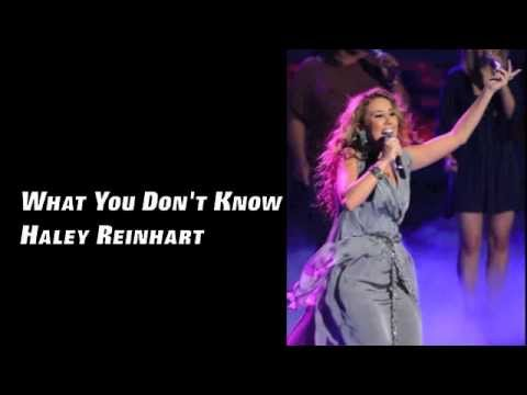 What You Don't Know - Haley Reinhart (Lyrics)