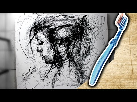 Speed painting with a toothbrush 2 | Drip Painting | ARTgerecht #22