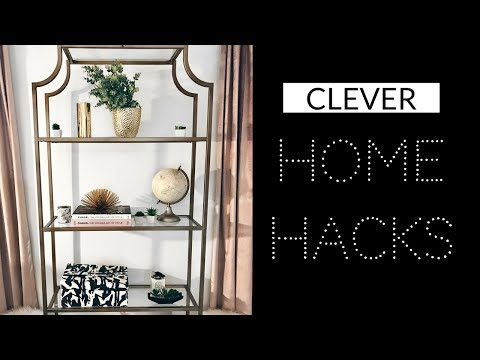 6 LIFE HACKS FOR A CLEAN & ORGANIZED HOME - HOME HACKS