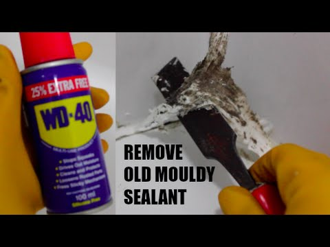 How to remove mouldy bathroom / shower sealant with WD40 - like a BOSS!