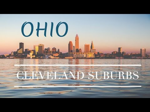 Cleveland Ohio Western Suburbs And Lake Erie Drone Footage