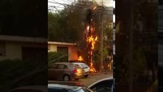 Electric fire meltdown in Karachi