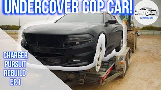 Buying A WRECKED Undercover Police Car | Dodge Charger Pursuit Rebuild Ep. 1