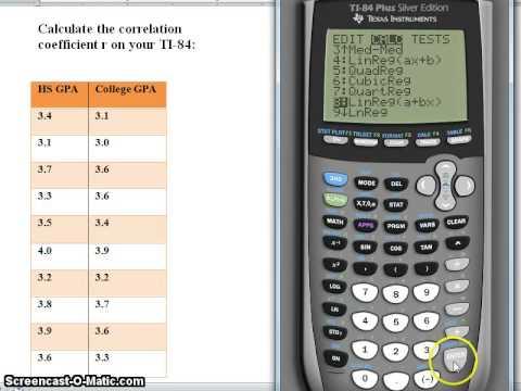 Correlation Coefficient on TI 84