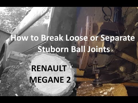How to separate stuck Renault Megane 2 lower ball joint without special tools, quick tip