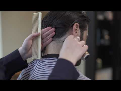 How to trim sideburns and neck hair on men's long hair