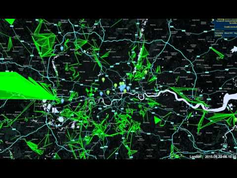 Ingress London 24hr time lapse   22 09 2015