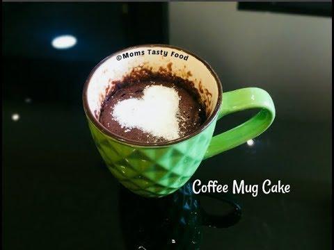 2 Minute Coffee Mug Cake Eggless-Coffee Mug Cake in Microwave - How to Make Mug Cake