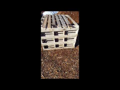 Build a free compost bin out of pallets