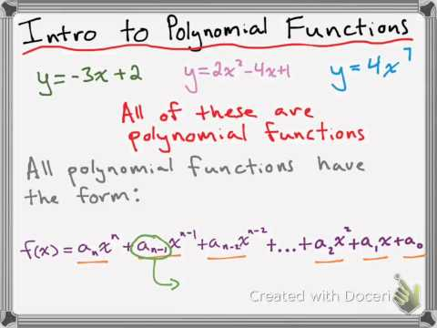 Polynomial Functions and Power Functions
