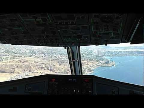 Landing at Eilat Airport