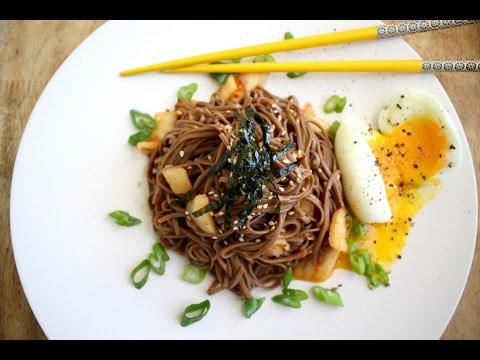 Kimchi Noodles - Korean Soba Kimchi Recipe Bibimguksu 김치 비빔국수
