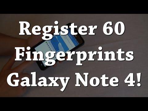 Galaxy Note 4: Register More Fingerprints!