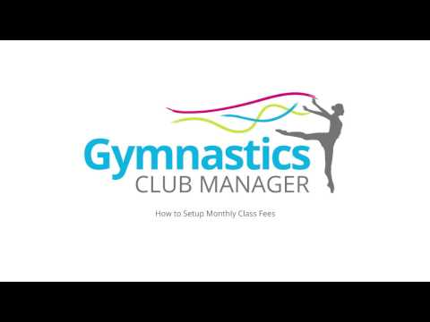 How to set up Gymnastics Club Manager to collect monthly class fees