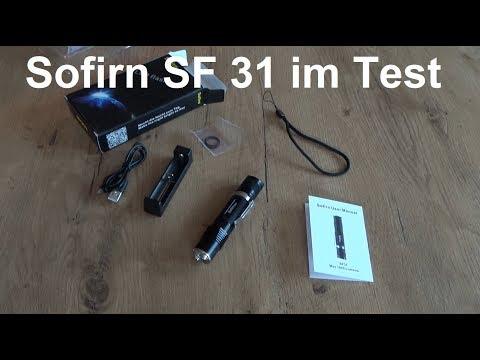 Sofirn SF31 LED Taschenlampe mit 1000 Lumen im Test